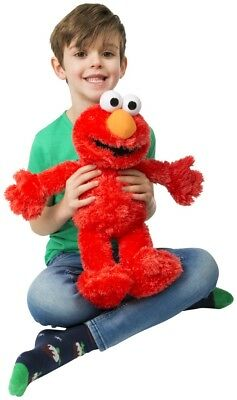 "123 Sesame Street 18"" Tickle Me Elmo Talks & Giggles Childrens Kids Cuddly Toy"