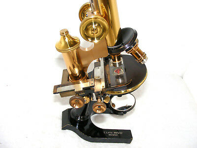E. LEITZ  BRASS  MICROSCOPE, No.112434, c.1909