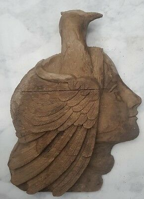 Stunning Hand Carved Wooden Wall Sculpture