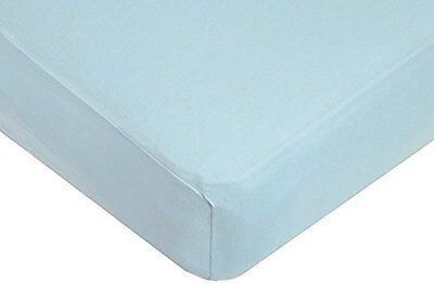 American Baby Company Supreme Jersey Knit Fitted Crib Sheet, Blue