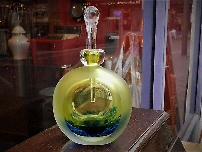 """Jane Charles"" Large Art Glass Perfume Bottle - Signed"