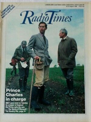 Radio Times 16-22 August 1986 Prince Charles cover