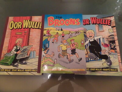 oor Wullie/Broons Annuals x 3