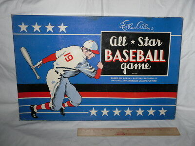 Vintage 1942 Ethan Allen's All Star Baseball Game Cadaco-Ellis With All PL Discs