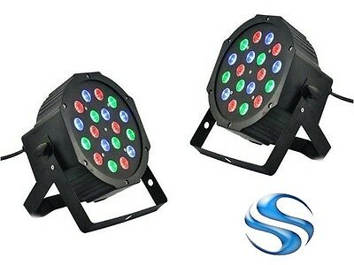 Faro 18 Led Rgb Dmx Multicolore Strobo Music No Program Con Staffa Festa Eventi