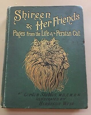 Shireen And Her Friends ~ Persian Cat Antique Book ~ Gordon Stables 1895