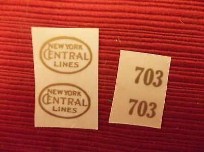 Gold Self-Adhesive Decals For Early Lionel Standard Gauge #703 Engine