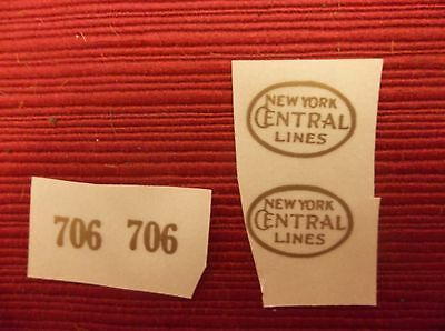 Gold Self-Adhesive Decals For Early Lionel Standard Gauge #706 Engine