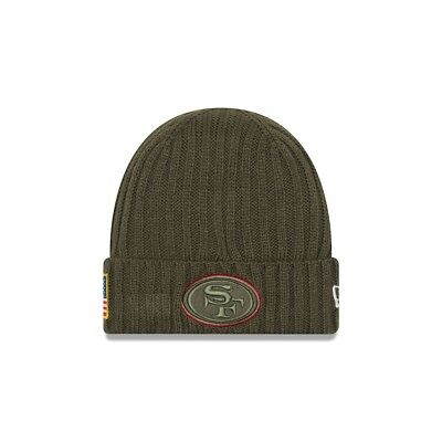 New Era NFL SAN FRANCISCO 49ERS Salute to Service 2017 Authentic Sideline Knit