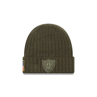 New Era NFL OAKLAND RAIDERS Salute to Service 2017 Authentic Sideline Knit OVP
