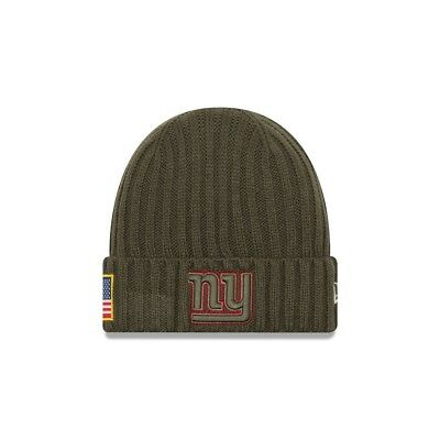 New Era NFL NEW YORK GIANTS Salute to Service 2017 Authentic Sideline Knit OVP