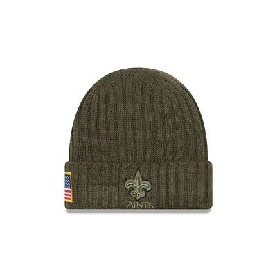 New Era NFL NEW ORLEANS SAINTS Salute to Service 2017 Authentic Sideline Knit