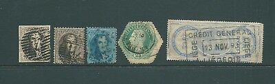 BELGIUM - 19th Century stamps including Telegraph & Fiscal