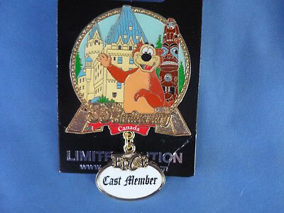 CANADA EPCOT Disney Pin 2017 CAST MEMBER exclusive 35th ANNIVERSARY  New on Card