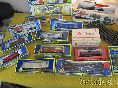 Huge Tyco ANM MRC Train Set Lot 20pc New Trainpack HO Controller Cars Track Tree