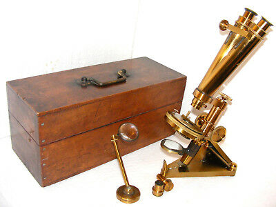 BINOCULAR  MICROSCOPE - R. & J. BECK POPULAR MODEL, No.9954, c.1880