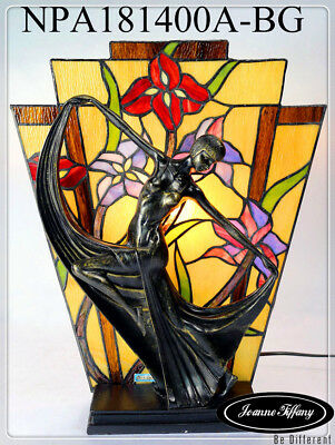 Spoil yourself@Dancer Figurines Tiffany Stained Glass Art Deco Lamp