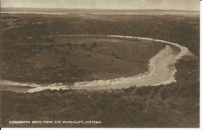 Old Postcard - Horseshoe Bend from the Windcliff, TINTERN 1925