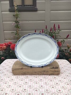 Keeling & Co. Losol Ware 'Rye' Blue & White Large Oval Platter