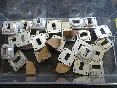 31 MI Technologies Waveguide WR-75 10-15 Ghz 90 Angle Corners Flanges