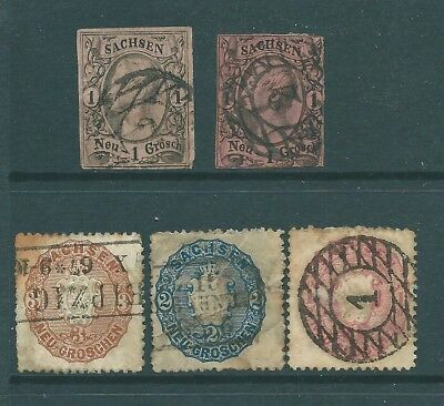GERMANY - GERMAN STATE of SAXONY - Unchecked collection of stamps
