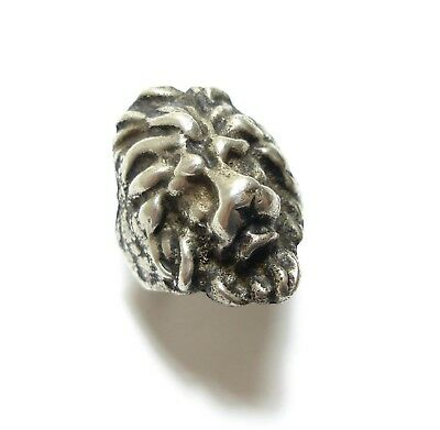 Stunning Old Vintage  /  Antique Chunky Silver Novelty Lion Ring Band Q (C18)