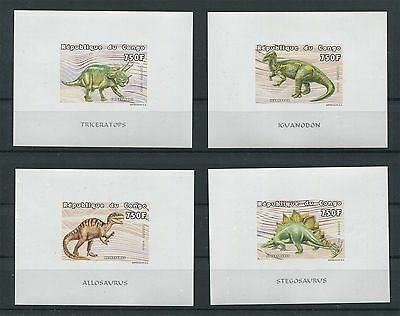 CONGO DINOSAURIER 1999 DELUXE SHEETS IMPERF!! MNH DINOSAURS DINOSAUR RARE! d8696