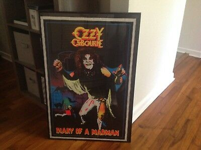 Ozzy Osborne poster Diary of a Madman blacklight poster vintage