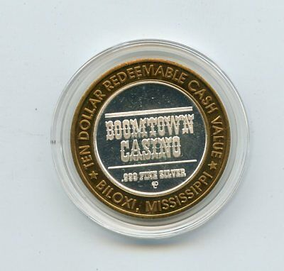 $10 Boomtown Casino Western Collector's Series Gaming Token .999 Fine Silver
