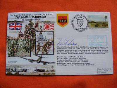 Road to Mandalay Cover, Signed by PO, Robert F T Doe, DFC DSO.