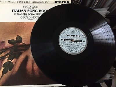 Hugo Wolf From The Italian Songbook 1st Press Vinyl Record