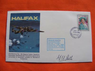 Halifax Special Duties Cover, Signed By, F/Lt Francis H Dell. Limited Edition.