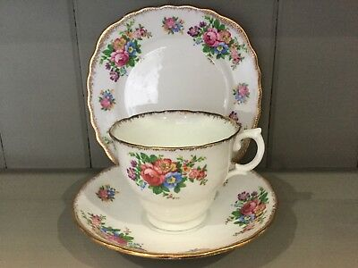 vintage colclough tea set trio