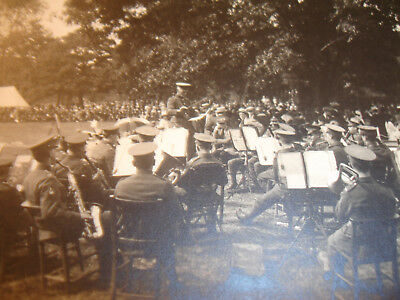 Pontypridd 1921 King's Birthday Celebration,  2 Real photos Military Band