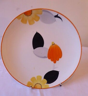 Large Vintage 1930-32 Art Deco  Susie Cooper Pottery Hand Painted Cake Plate.