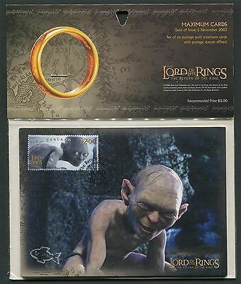 NZ MK HERR DER RINGE / LORD OF THE RINGS KOMPLETTES SET MAXIMUM CARD MC CM z2088
