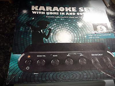 Silver Crest Karaoke Set With Hdmi In & Output New In Box