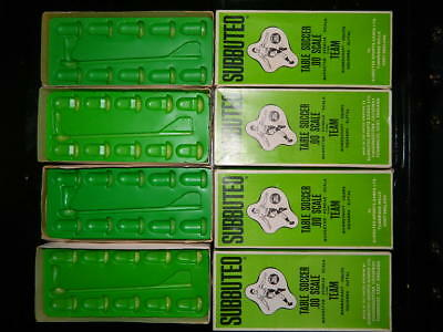 VINTAGE-1970s-SUBBUTEO  -  FOOTBALL-H-W-SPARE-BOXES  - ALL INCLUDE INNERS.