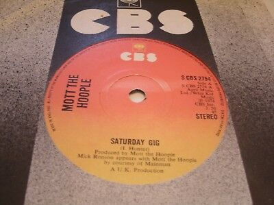Mott The Hoople - Saturday Gig  Cbs2754 Uk 1974