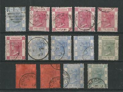 Hong Kong Qv Stamps Used In Foochow Treaty Port