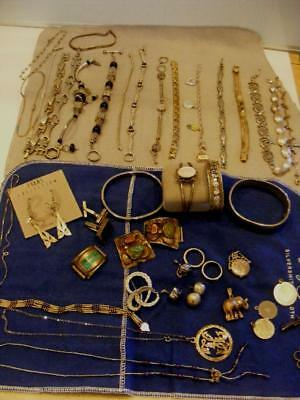 530g Huge lot STERLING SILVER Bracelets Necklace Earrings Navajo usable scrap