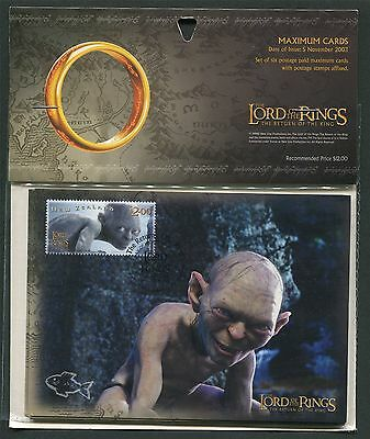 NZ MK HERR DER RINGE / LORD OF THE RINGS COMPLETE SET MAXIMUM CARD MC CM z2089