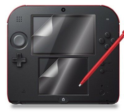 Nintendo 2DS Screen Protector Film Cover Skin Guard Clear - Top & Bottom screens