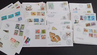 Swiss/luxembourg & Germany - Fine Collection Of 400+ F.d.covers - Ill & Pristine