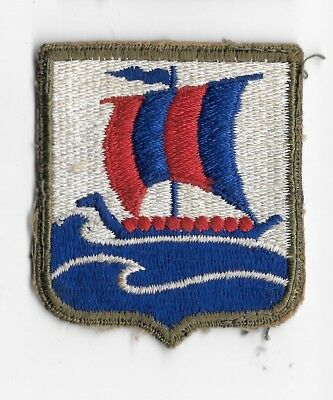 WW2 99th Infantry Battalion PATCH OD BORDER - US Army Viking Ship