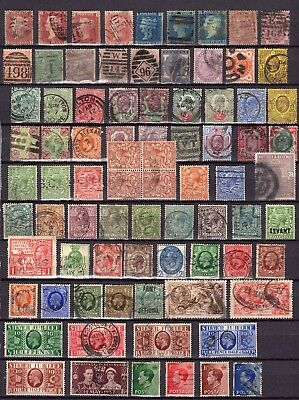 QV  - GVI miscellaneous collection.  144 stamps on double sided stock book leaf.