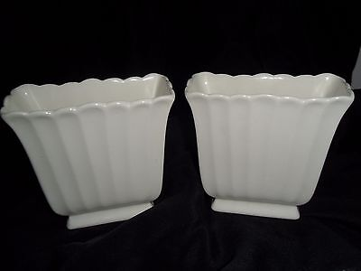 Vintage Pair of Matching White Spode Vases
