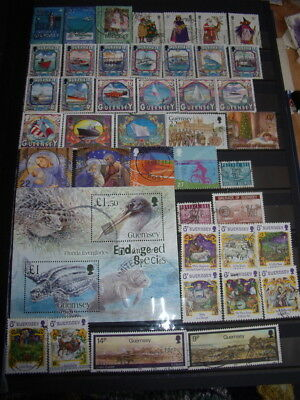 Guernsey Stamps Lot 9 X 177 Used Stamps X 1 Used Sheet - All Scanned Below The W