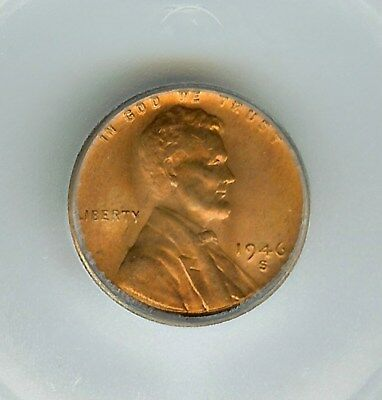 1946-S Lincoln Wheat Cent  Icg Ms67 Red