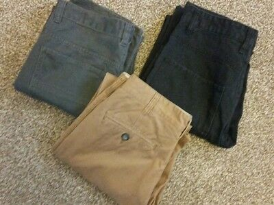Mens/boys bundle of jeans trousers chinos W30 L30 exc con black tan grey